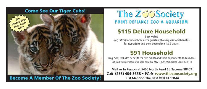 Zoo discount coupons