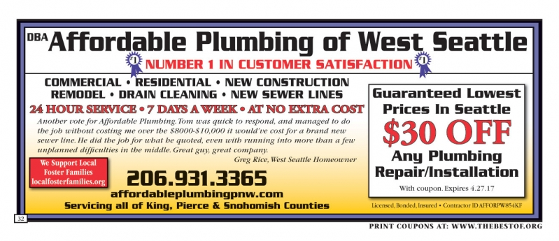 Affordable Plumbing of West Seattle