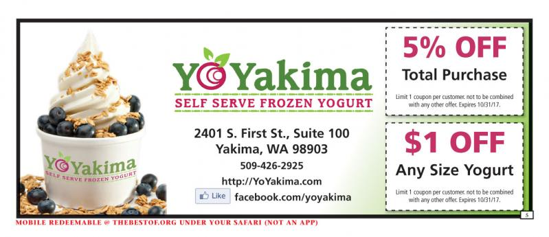 Yo Yakima Self Serve Frozen Yogurt