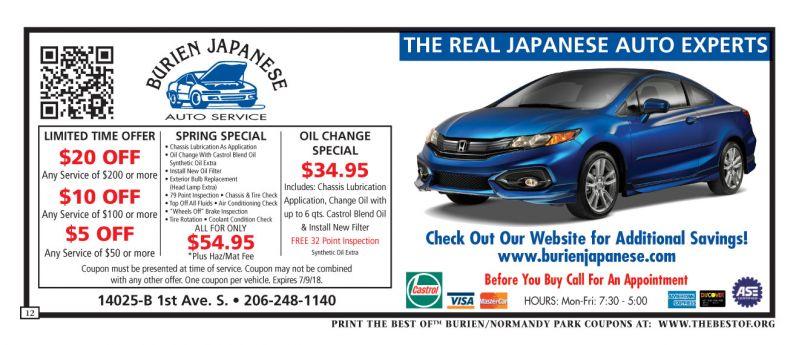 Car Pros Burien: Automotive Coupons