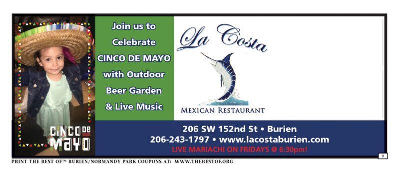 La Costa Mexican Restaurant Coupons and Discounts, Burien