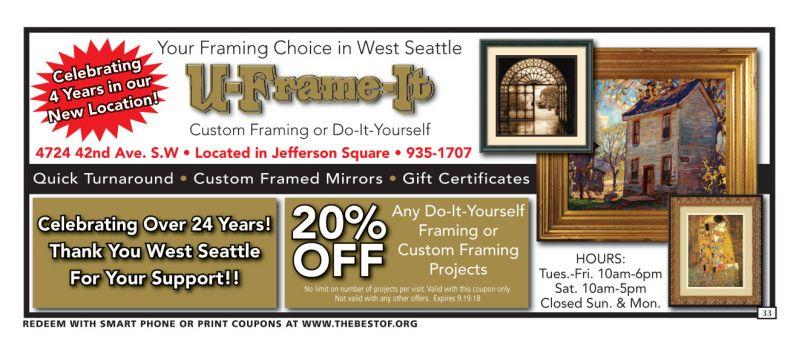 U-Frame-It Coupons and Discounts, Seattle